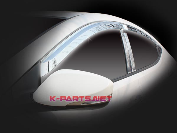 Window sunvisors chrome